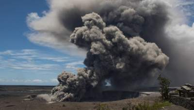 Извержение вулкана увеличило площадь США
