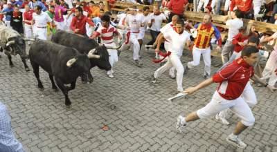 В Испании во время забега быков пострадали пять человек