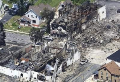 Мощный взрыв газа в США: ранены десятки человек