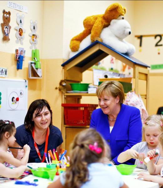 Фотография Меркель поставила её в неловкое положение