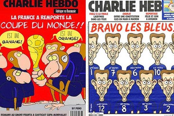 Опубликован оригинал карикатуры Charlie Hedbo на победителей ЧМ-2018