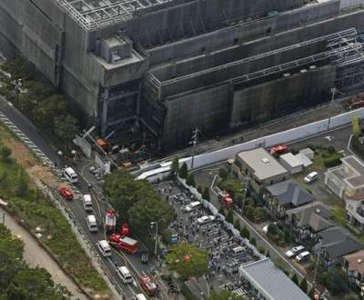 На стройке в Токио вспыхнул пожар: есть погибшие