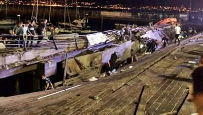 Количество пострадавших от падения платформы в Испании перевалило за 300 человек