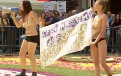 В Бельгии прошла акция Femen