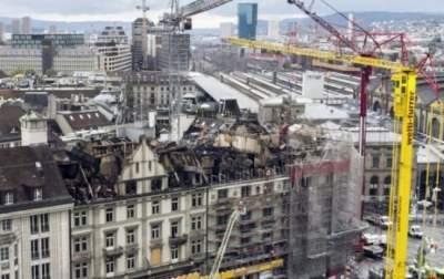 Масштабный пожар в Цюрихе: нарушено движение транспорта