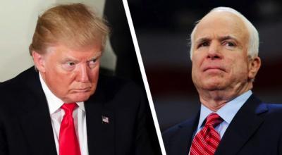 Трамп не будет приглашен на похороны сенатора Джона Маккейна