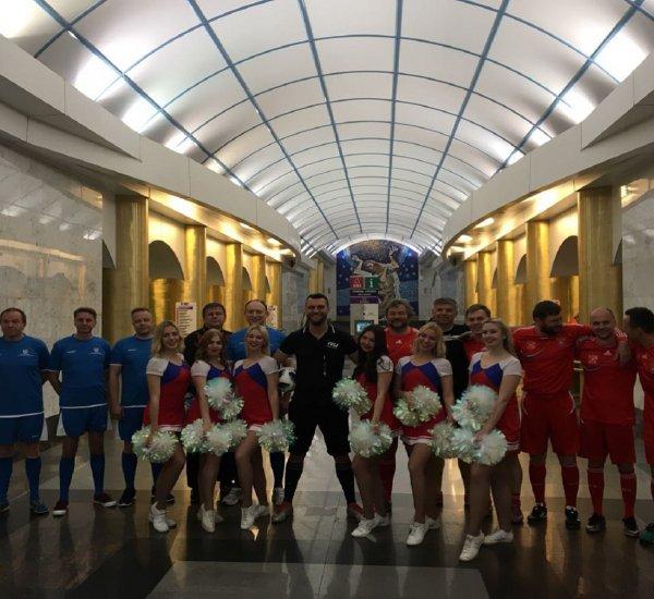 В метро Петербурга состоялся подземный футбольный матч