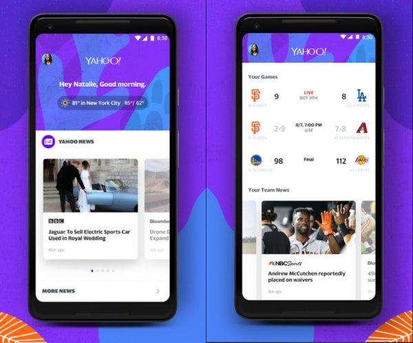 Yahoo выпустила обновление для своей копии Google-приложения