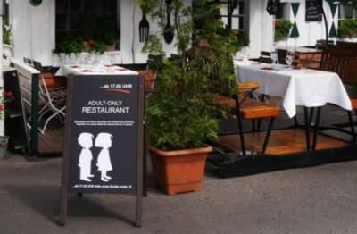 В немецкий ресторан запретили приходить с детьми