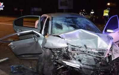 В Польше произошла авария с украинскими автомобилями
