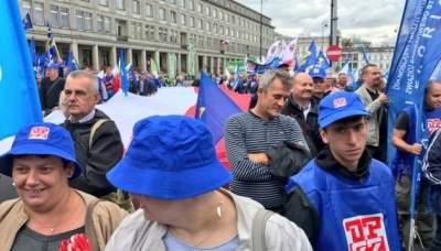 Польские бюджетники выступили с масштабной акцией протеста