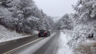 Румынию завалило первым снегом