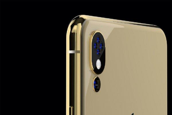 Показан концепт iPhone с пятью камерами и «челкой» сбоку