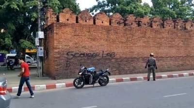 Британскому туристу угрожает 10 лет тюрьмы за граффити в Таиланде