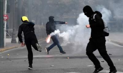 В Греции произошли столкновения студентов с полицией