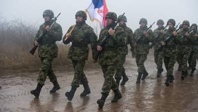 В Сербии начались масштабные военные учения