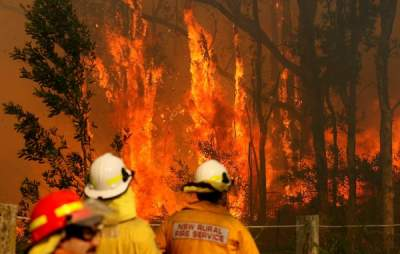 Австралию охватили обширные пожары