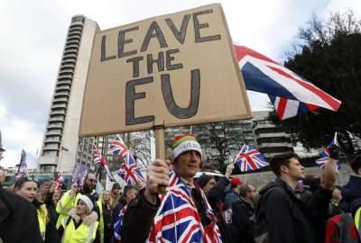 В Британии люди вышли на митинг за Brexit