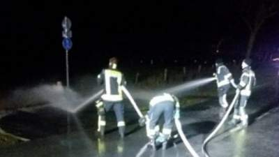 В Германии дорогу затопило молоком