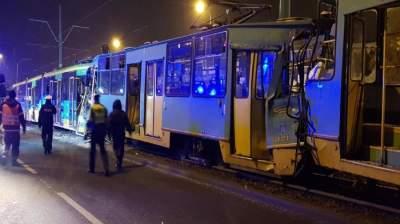 В Польше столкнулись три трамвая: 14 раненых
