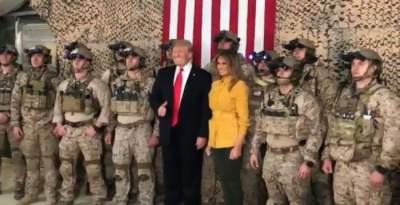 Трамп во время визита в Ирак рассекретил позиции военных