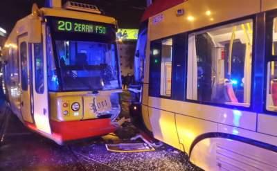 В Варшаве столкнулись трамваи: есть раненые