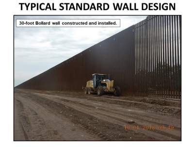 Трамп показал, какой будет стена с Мексикой