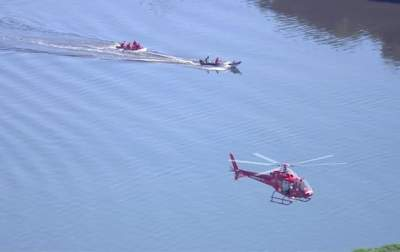 В Рио-де-Жанейро вертолет полиции упал в бухту