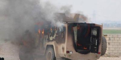 В Сирии автомобиль террориста-смертника врезался в военный конвой