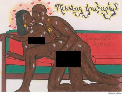 В США ушел с молотка эротический рисунок погибшего рэпера