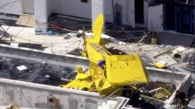 В США самолет протаранил небоскреб