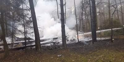 В Польше разбился военный истребитель