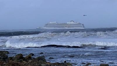 В Норвегии терпит бедствие круизный лайнер