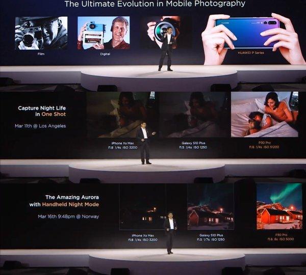 Samsung уличила Huawei в подставных результатах во время презентации P30