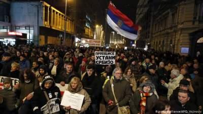 В Сербии протестующие потребовали отставки президента