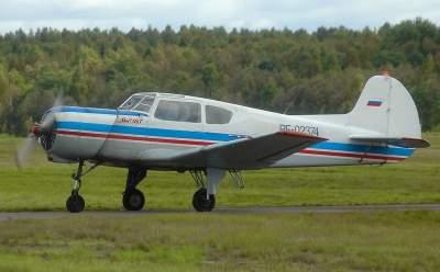 В России разбился учебно-тренировочный самолет