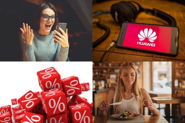 Выгодное предложение: Пользователи смартфонов Huawei получают скидки на обеды в ресторане