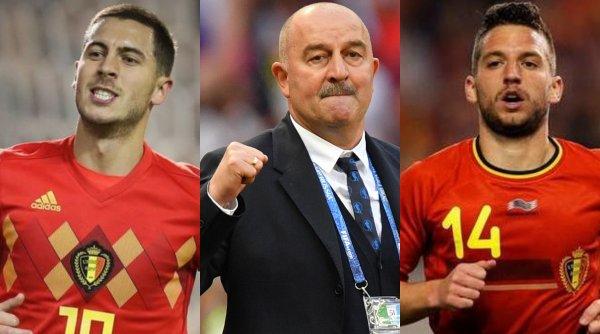 Черчесов в восторге: Травмы Азара и Мертенса увеличили шансы сборной России на ЕВРО-2020