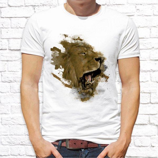 Футболка с принтом льва